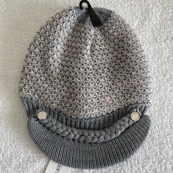 """15e92b28a0d Calvin Klein Winter """"News Boy"""" Hat"""